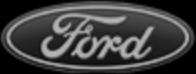 značka Ford černobílá